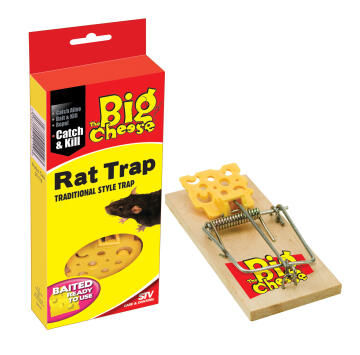 Baited Rat trap THE BIG CHEESE ready to use