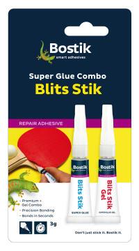 Blits stik super glue kit bostik 2x3g