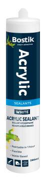 Acrylic sealant white 280ml bostik