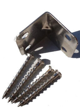 Balustrade Accessory Pack 2 90° Joiners Stainless Steel with screws