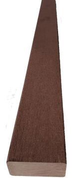 Balustrade Accessory Horizontal Rail Composite Chocolate-40x80x1100mm