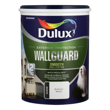 Paint exterior suede mid-sheen DULUX WALLGUARD White 5L,