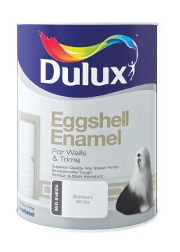 DLX EGGSHELL ENAMEL WHT 5L