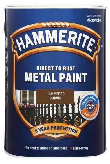 Paint Hammerite Hammered Brown 5l
