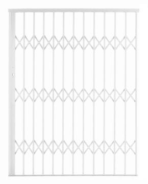 Alu-glide security gate type 15 1500(w)x1950-2150(h) white xpanda