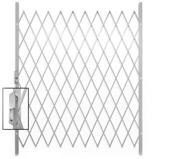 Saftidor security gate type F 1600(w)x2000mm(h) white xpanda