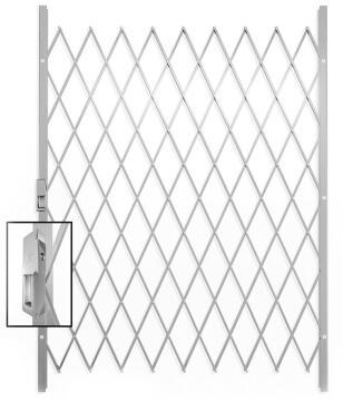 Saftidor security gate ref E 1500x2150mm white xpanda