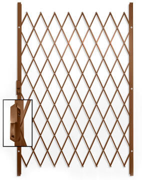 Saftidor security gate type D 1300(w)x2000mm(h) bronze xpanda