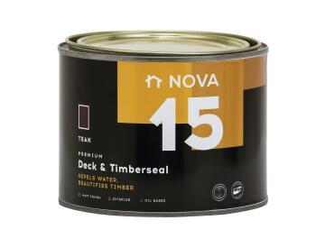 Exterior Wood Sealer NOVA 15 Deck & Timberseal teak 1 litre