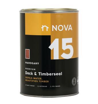 Exterior Wood Sealer NOVA 15 Deck & Timberseal mahogany 5 litres