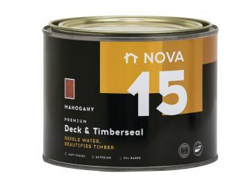 Exterior Wood Sealer NOVA 15 Deck & Timberseal mahogany 1 litre