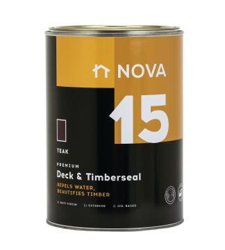 Exterior Wood Sealer NOVA 15 Deck & Timberseal teak 5 litres