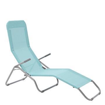 Sun Lounger 1Px Veia Origami 60%textilene 40%steel 60% H 104cmxL137cmxW61cm 2 Seating Positions Mint