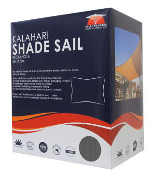 Shade KALAHARI 5 m X 3 m Rectangular Charcoal