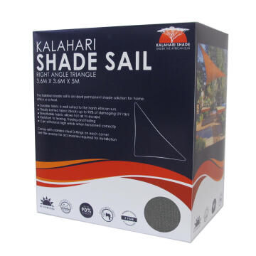 Shade Sail KALAHARI 3.6 m Triangle Charcoal