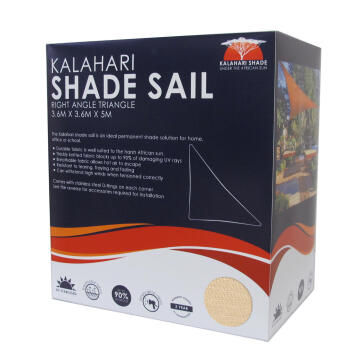 Shade Sail KALAHARI 3.6 m Triangular Sand
