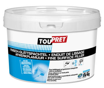 Fine surface filler TOUPRET 4kg