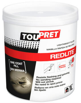 Light weight filler TOUPRET Redlite 1 litre