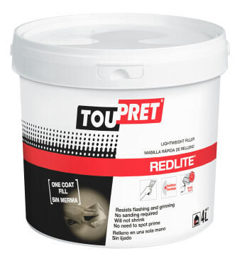 Light weight filler TOUPRET Redlite 4 litre
