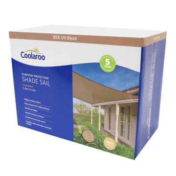Shade Sail COOLAROO 5.4 m Square Beech
