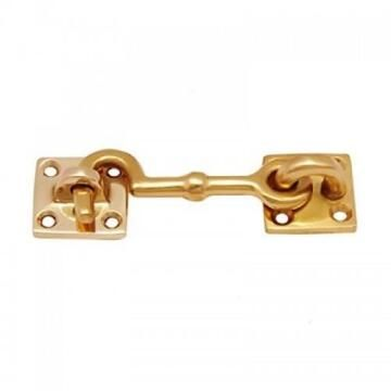 Cabin hook brass 75mm euro brass