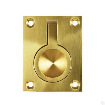 Pull Flush Ring 50x63 Brass