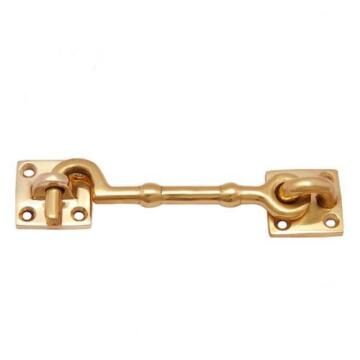 Cabin hook brass 100mm euro brass
