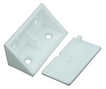 Corner Bracket W/Cover White Double 38x22mm,20
