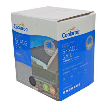 Shade Sail COOLAROO 5 m Triangular Graphite