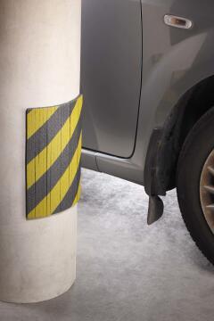 Motor vehicle door dent protection foam slatted mottez