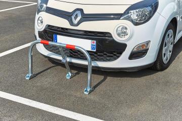 Parking barrier galvanised tube folding grey mottez