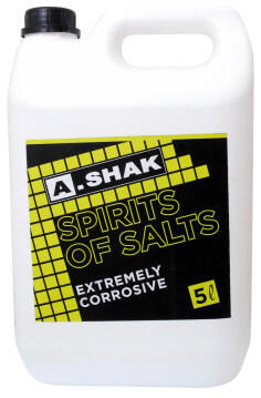Heavy duty cleaner A SHAK spirit of salts 5 litres