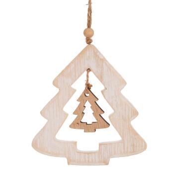 CHRISTMAS WOOD TREE 11X11X0.8CM