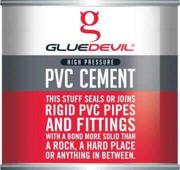 PVC cement high pressure 250ml gluedevil