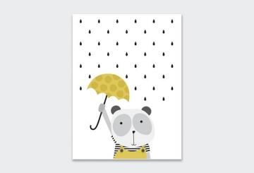WALL ART PRINT THE PANDA 23X30CM