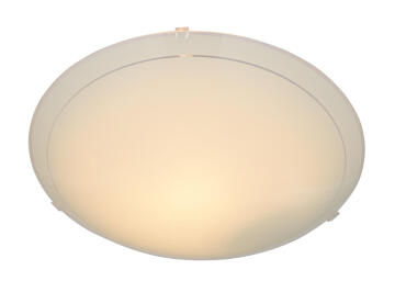 CEILING F 1XE27 TYPEA PLAIN GLASS 250MM