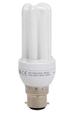 CFL 3U 11W B22 COOL WHITE