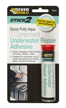 Underwater adhesive stick2 epoxy putty 50g everbuild