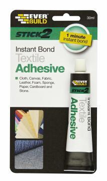 Textile adhesive stick2 30ml everbuild