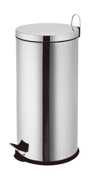 Kitchen pedal bin 30L chrome