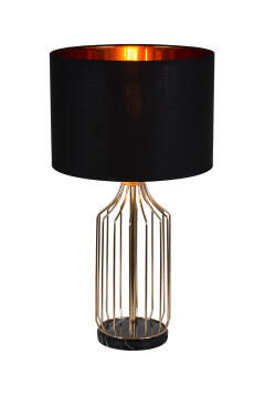 TABLE LAMP METAL & FABRIC