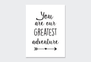 WALL ART PRINT TC-GREATEST-ADVEN 23X30CM