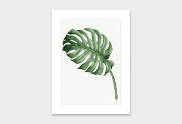 WALL ART PRINT LEAF 7 32X40CM