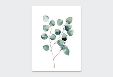 WALL ART PRINT WATERCOLOUR EU 2 23X30CM