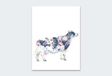 WALL ART PRINT ROSIE THE COW 1 23X30CM