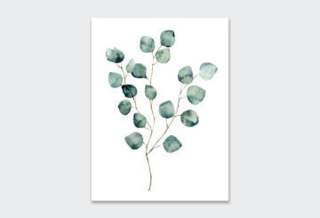 WALL ART PRINT WATERCOLOUR-EUCA1 23X30CM