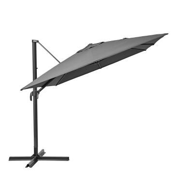 Umbrella Aura NATERIAL Aluminium 290 cm X 390 cm Dark Grey