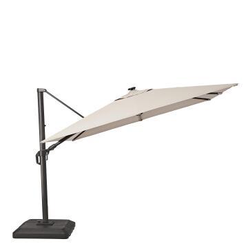Umbrella Sonora LED Base Aluminium 290 cm X 290 cm Taupe