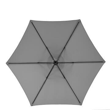 Umbrella Polar Steel Hexagon Diameter 260 cm Dark Grey