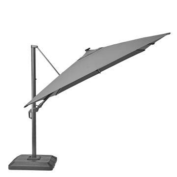 Umbrella Sonora Aluminium with base 280 cm X 390 cm Dark Grey